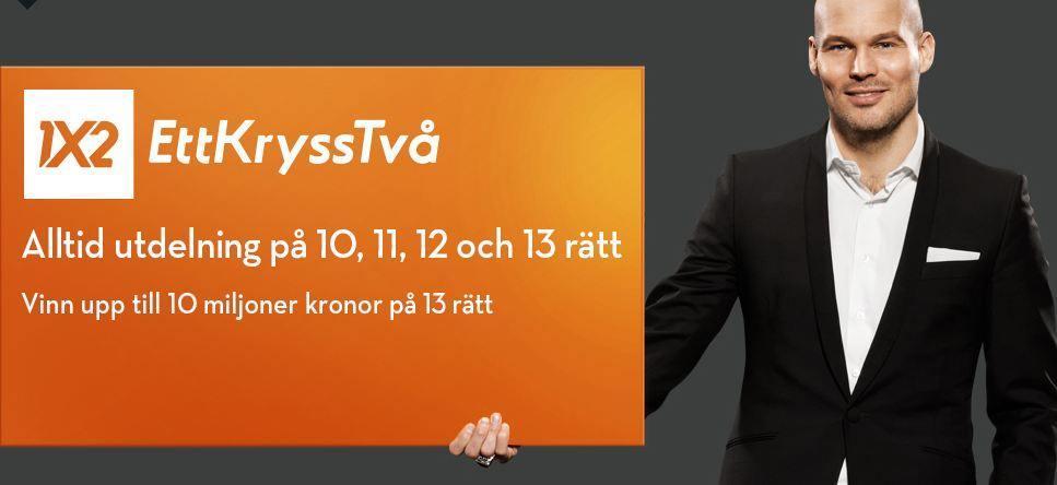Ettkrysstvå på Betsson - bild Fredrik.