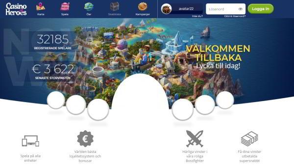 Exempel på nya spelbolag 2018 Casino Heroes
