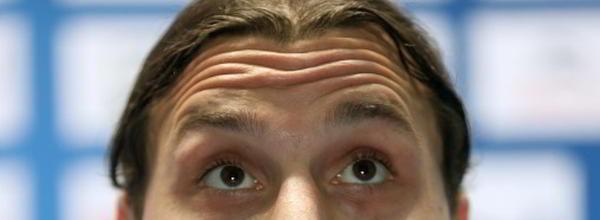 Ögonen på Zlatan Ibrahimovic