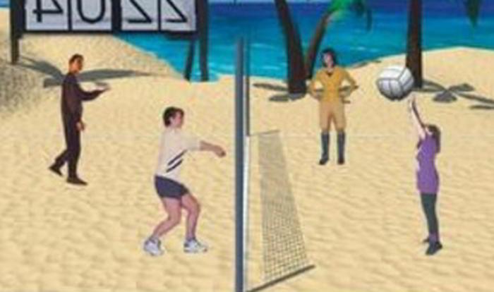 Virtuell sport betting - exempel bild på volleyboll spelare
